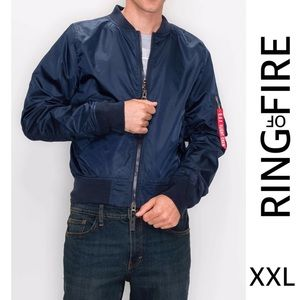 RING OF FIRE FLY WEIGHT BOMBER JACKET SIZE XXL